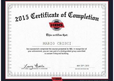 KBS Certified Professional Fitter