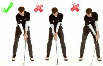 Errores no forzados en un swing de golf
